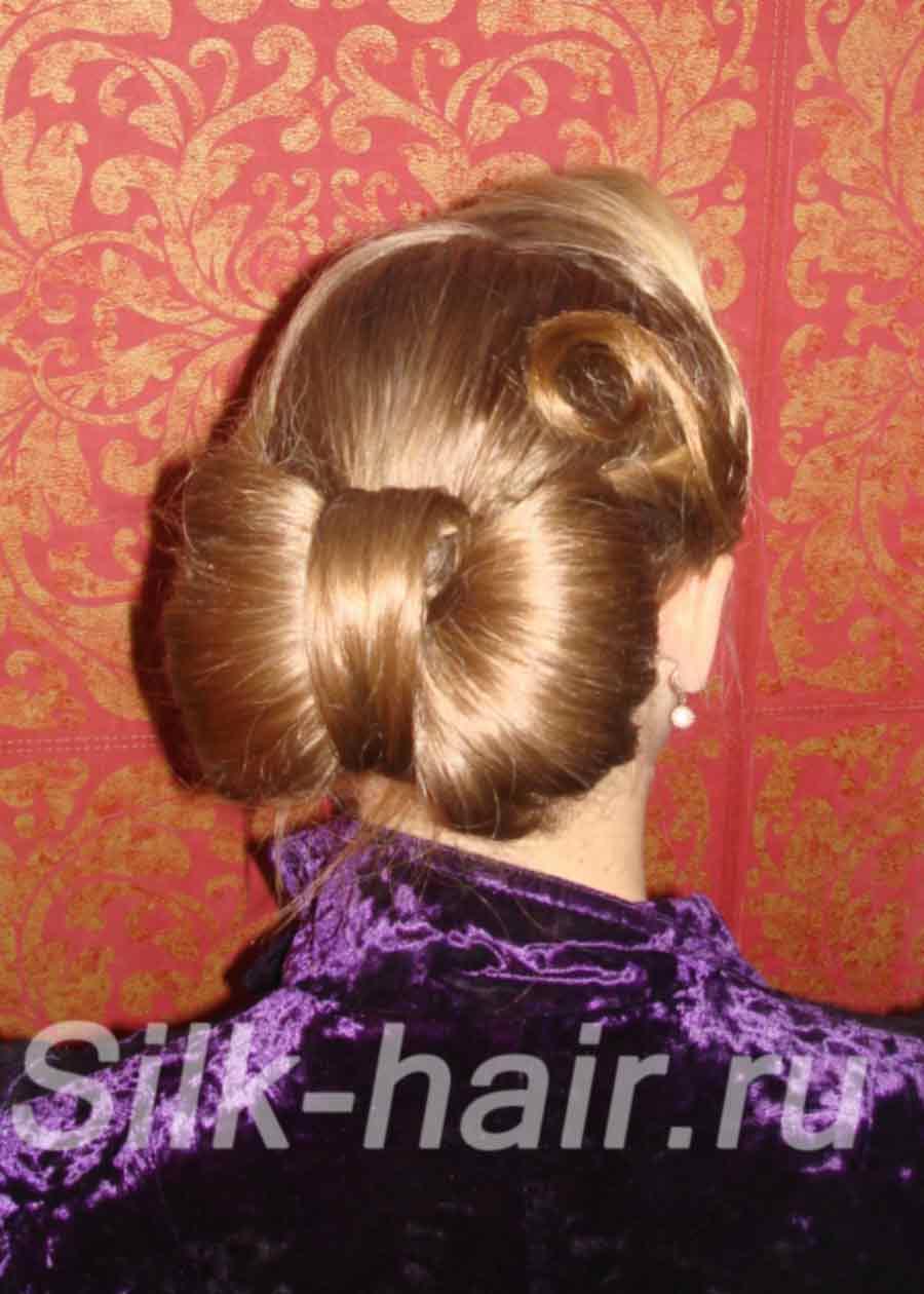 Бант из волос мастер класс фото
